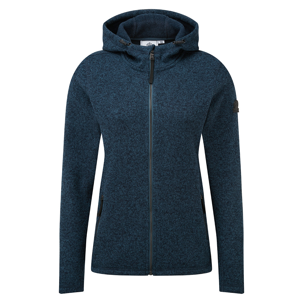 Cropton Womens Knitlook Fleece Jacket - Atlantic Blue Marl image 4