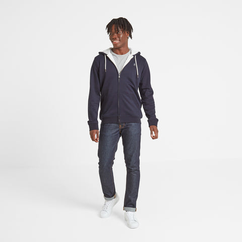 Darfield Mens Sherpa Lined Hoody - Navy Marl