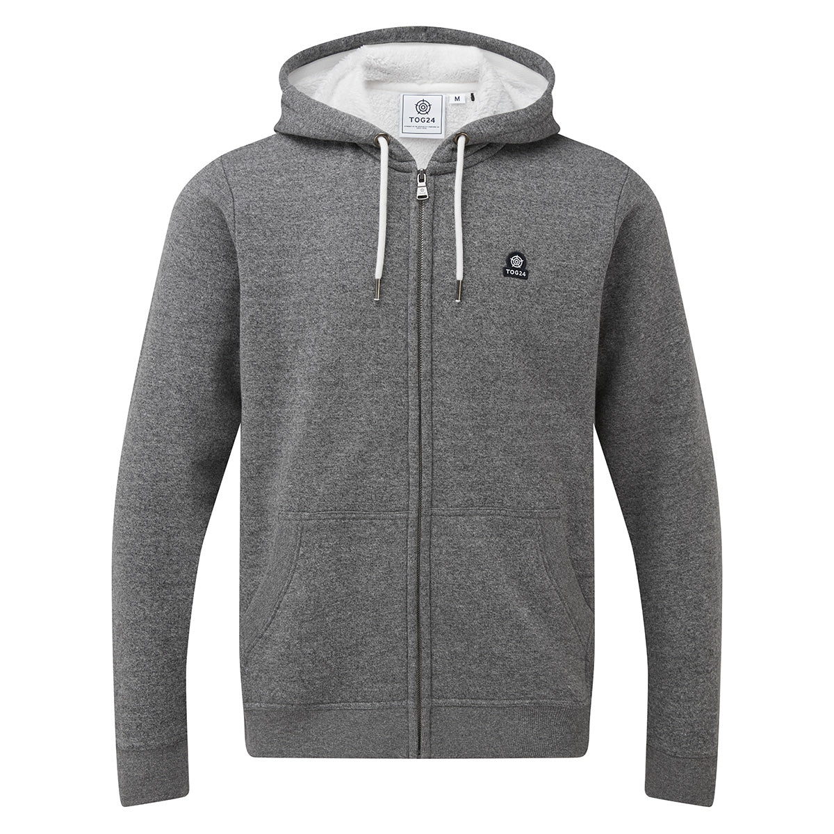 Darfield Mens Sherpa Lined Hoody - Dark Grey Marl image 4