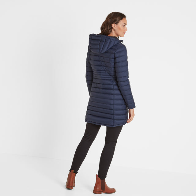 Denby Womens Down Jacket - Dark Indigo image 3