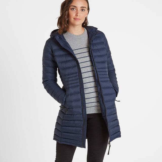 Denby Womens Down Jacket - Dark Indigo image 1