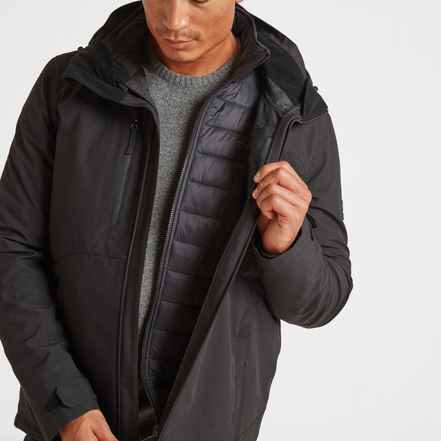 Denton Mens Waterproof 3-in-1 Jacket - Black image 2