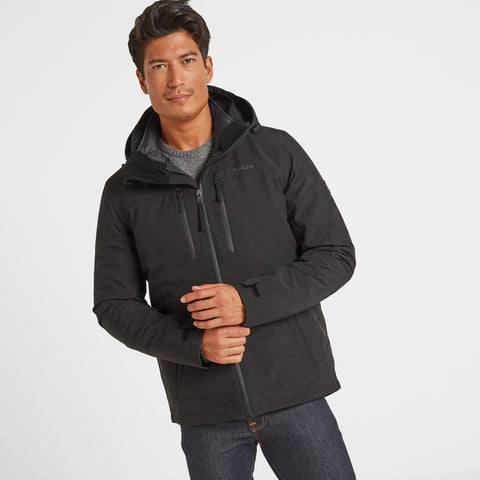 Denton Mens Waterproof 3-in-1 Jacket - Black