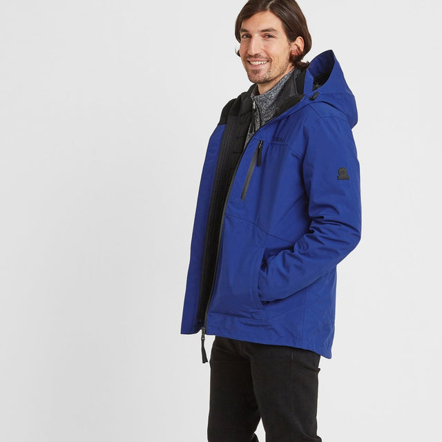 Denton Mens Waterproof 3-in-1 Jacket - Royal Blue image 5