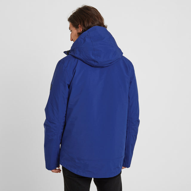 Denton Mens Waterproof 3-in-1 Jacket - Royal Blue image 3
