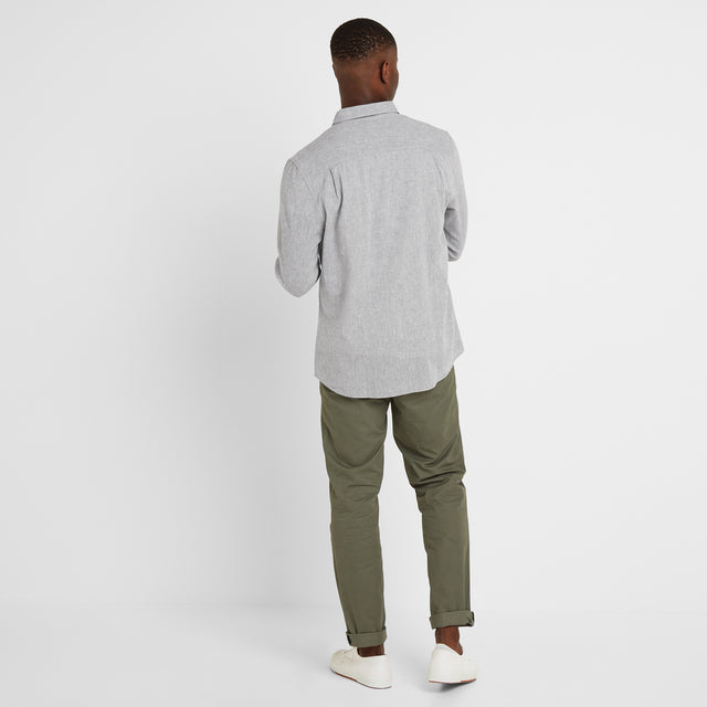 Diego Mens Long Sleeve Shirt - Concrete Grey image 2