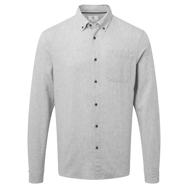 Diego Mens Long Sleeve Shirt - Concrete Grey image 3