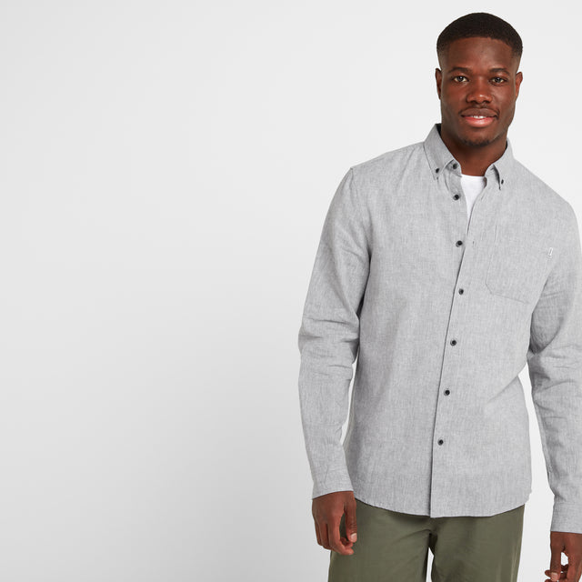 Diego Mens Long Sleeve Shirt - Concrete Grey image 1