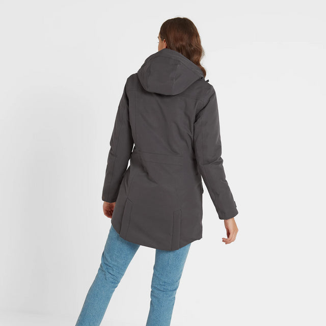 Dight Womens Waterproof Parka - Coal Grey image 2