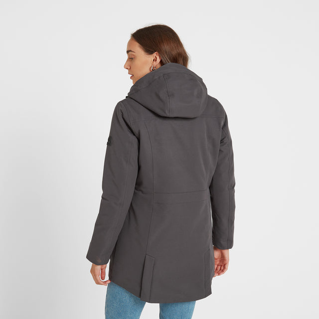 Dight Womens Waterproof Parka - Coal Grey image 3