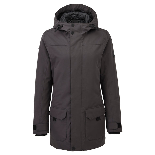 Dight Womens Waterproof Parka - Coal Grey image 6