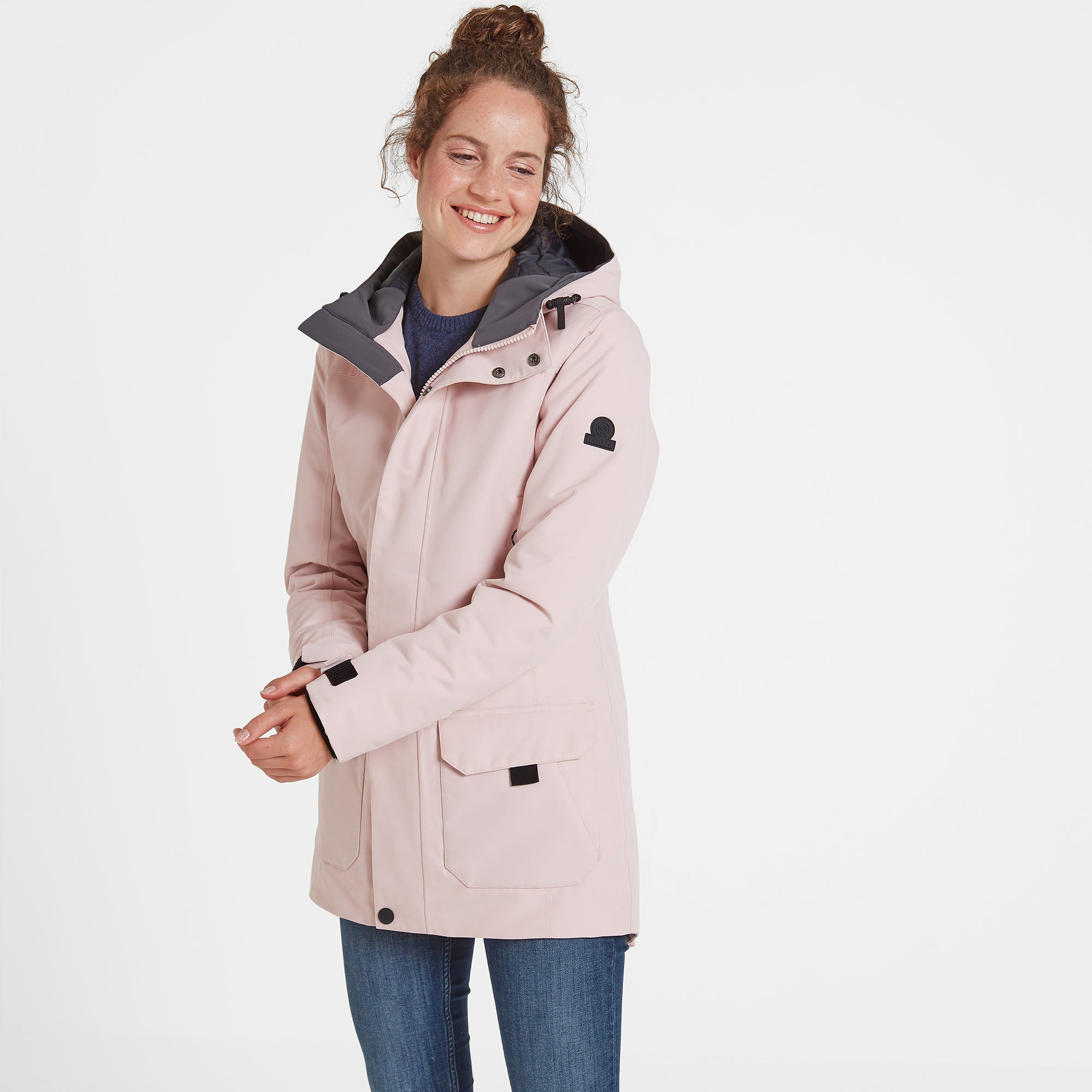 Dight Womens Waterproof Parka - Rose Pink