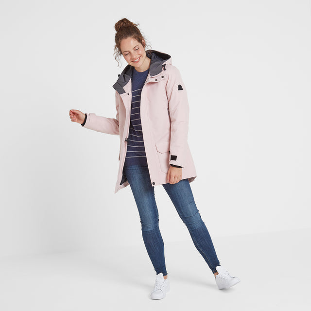 Dight Womens Waterproof Parka - Rose Pink image 2
