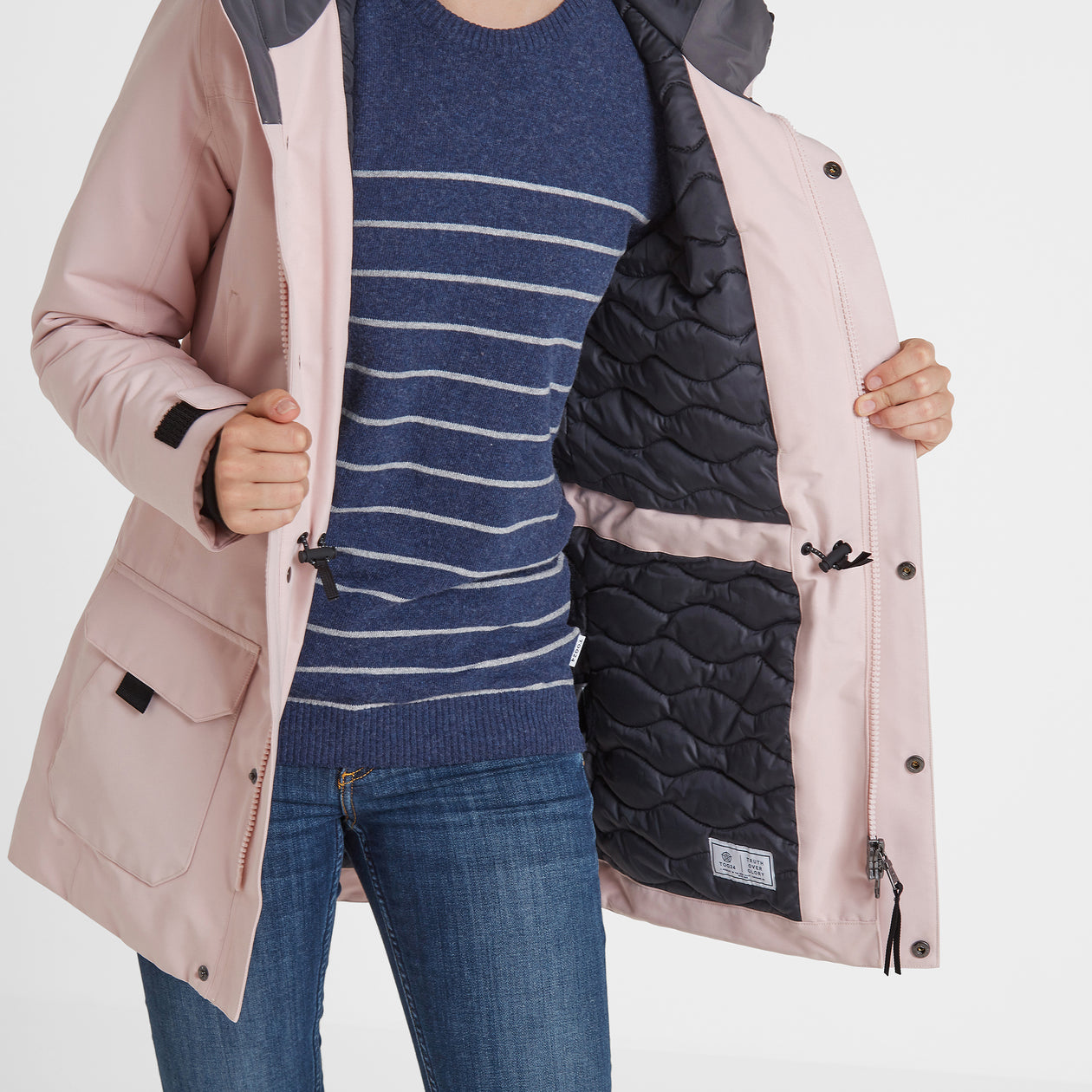 Dight Womens Waterproof Parka - Rose Pink image 4