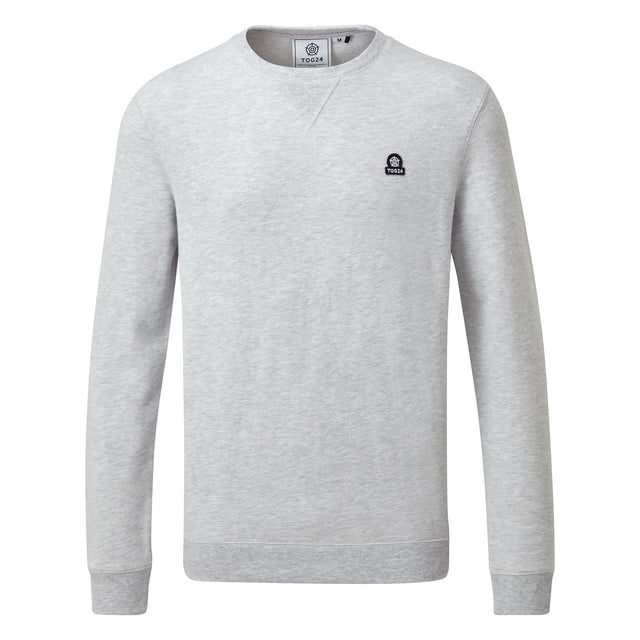 Dore Mens Crew Sweat - Light Grey Marl image 3