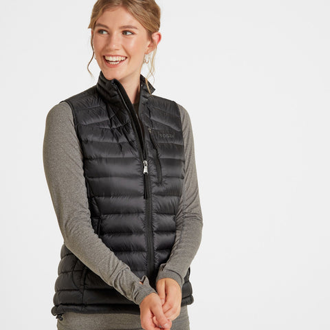 Drax Womens Down Gilet - Black