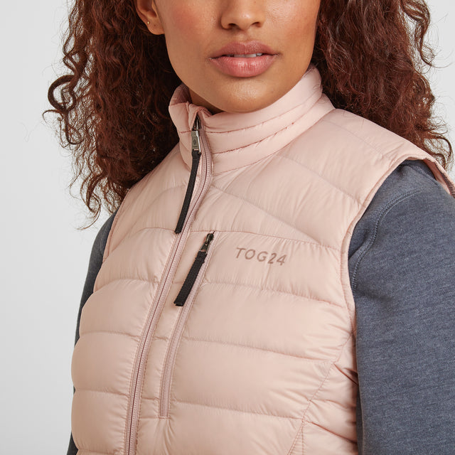 Drax Womens Down Gilet - Rose Pink image 5