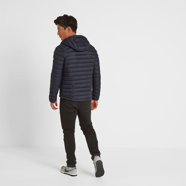 Drax Mens Hooded Down Jacket - Navy image 2