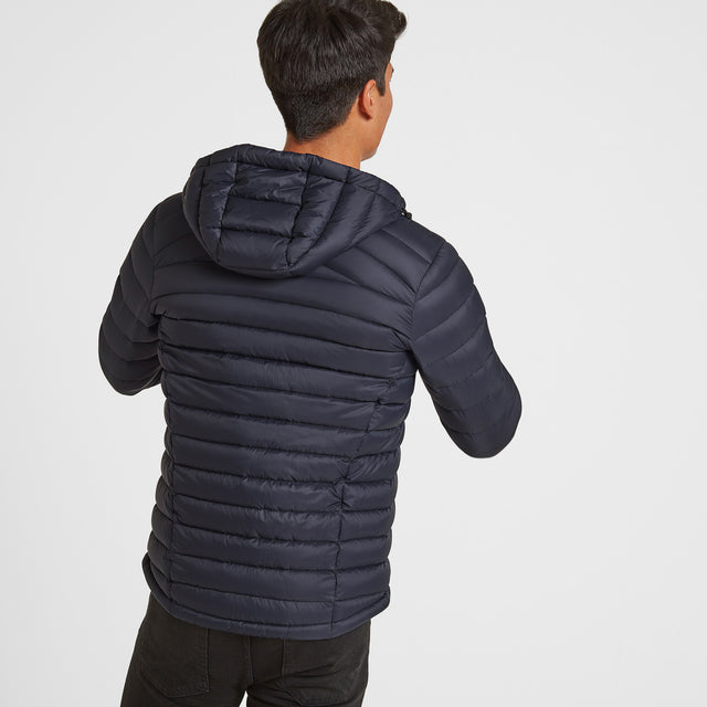 Drax Mens Hooded Down Jacket - Navy image 3