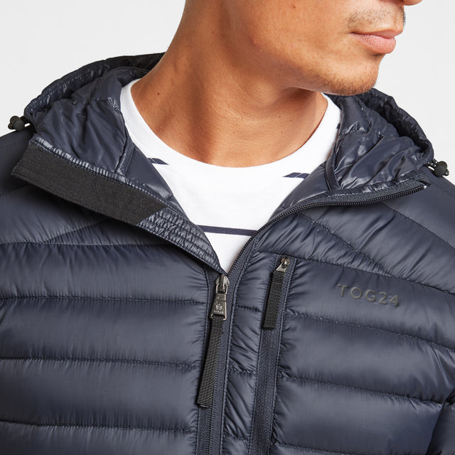 Drax Mens Hooded Down Jacket - Navy image 5