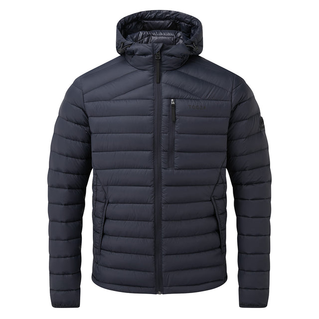 Drax Mens Hooded Down Jacket - Navy image 6