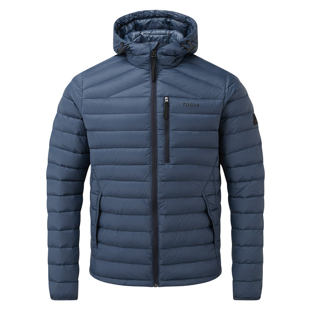 Drax Mens Hooded Down Jacket - Denim image 5