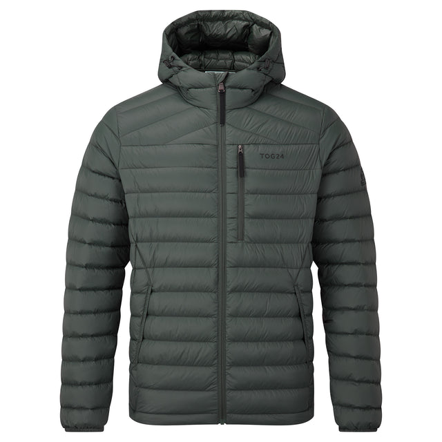 Drax Mens Hooded Down Jacket - Pine Green