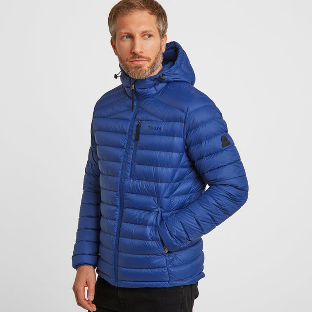 Drax Mens Hooded Down Jacket - Royal Blue image 1