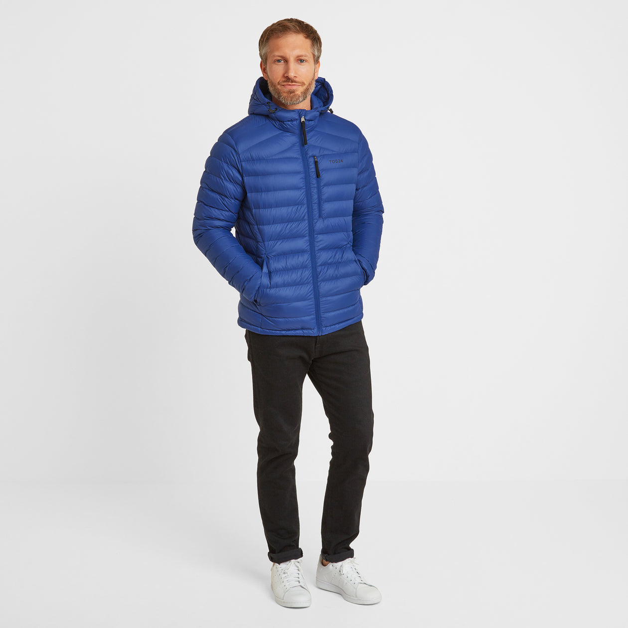 Drax Mens Hooded Down Jacket - Royal Blue image 4