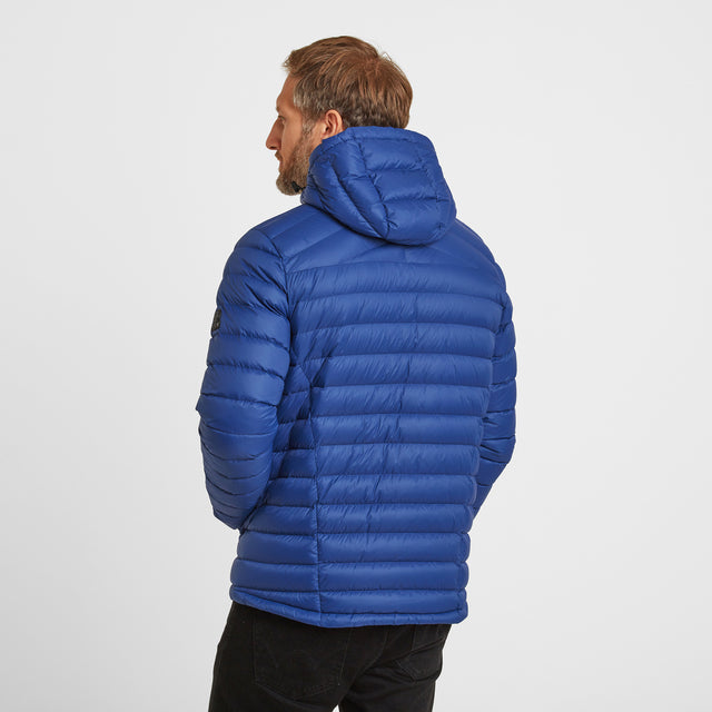 Drax Mens Hooded Down Jacket - Royal Blue image 2