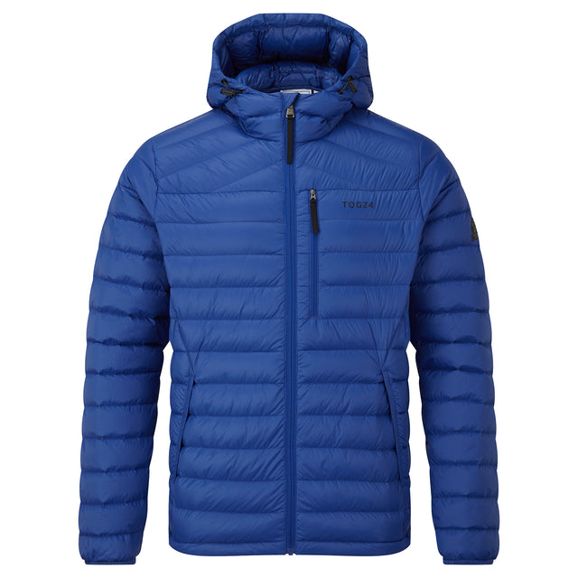 Drax Mens Hooded Down Jacket - Royal Blue image 3