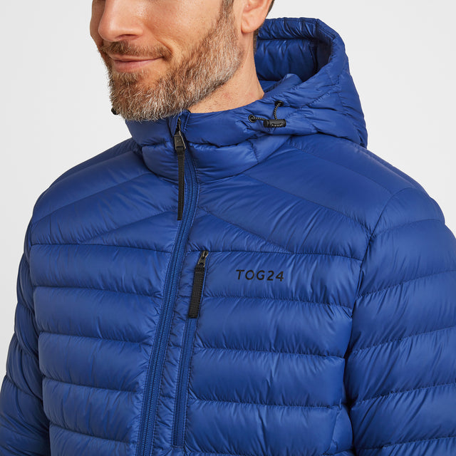 Drax Mens Hooded Down Jacket - Royal Blue image 5