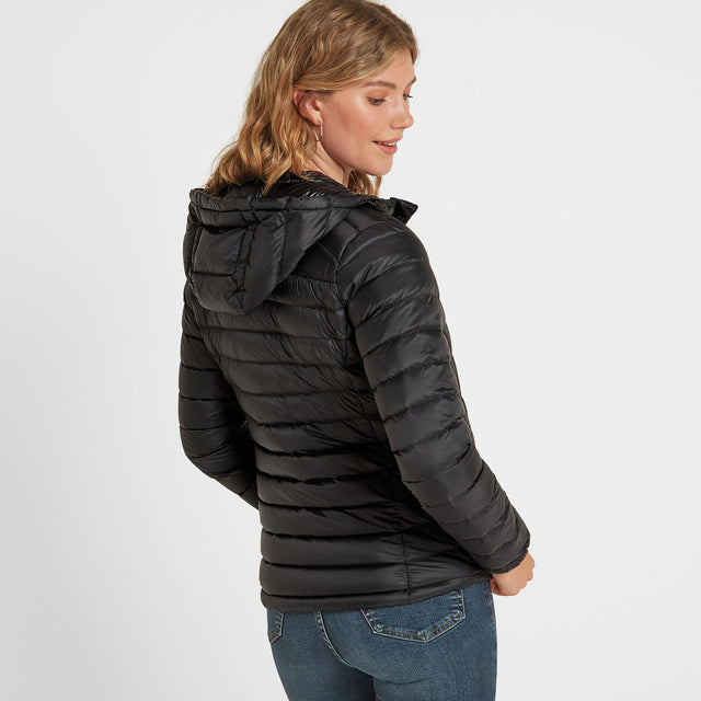 Drax Womens Hooded Down Jacket - Black image 1