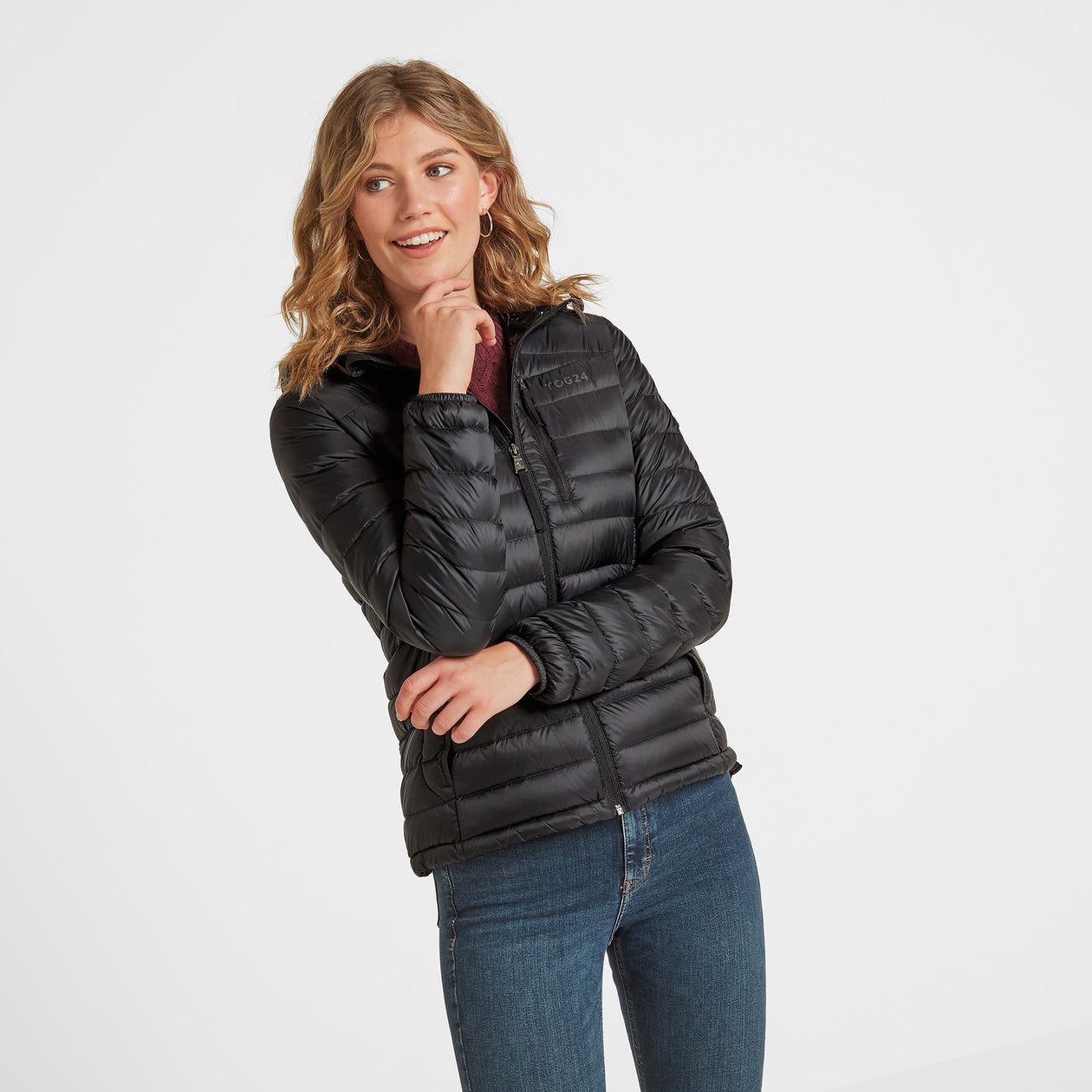 Drax Womens Hooded Down Jacket - Black image 4