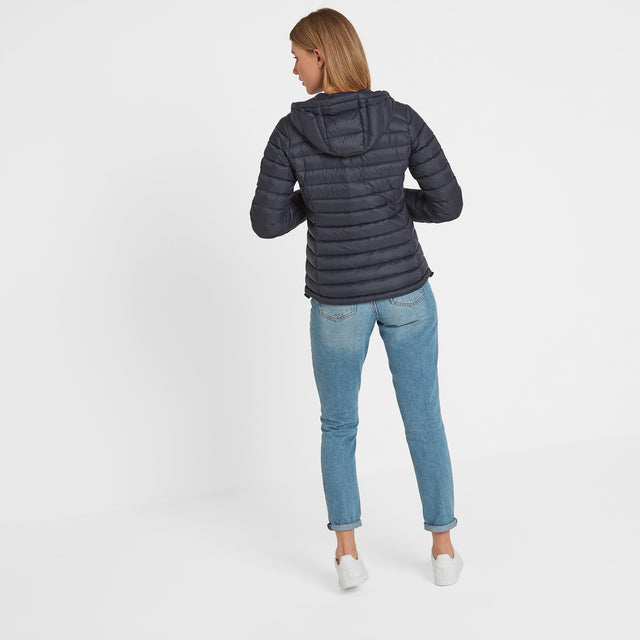 Drax Womens Hooded Down Jacket - Navy image 2
