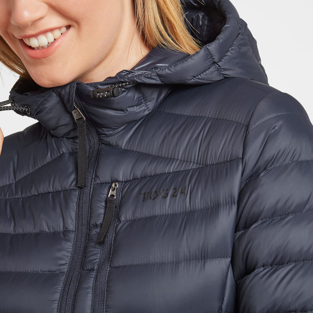 Drax Womens Hooded Down Jacket - Navy image 5