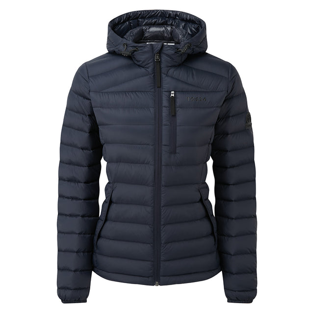Drax Womens Hooded Down Jacket - Navy image 6