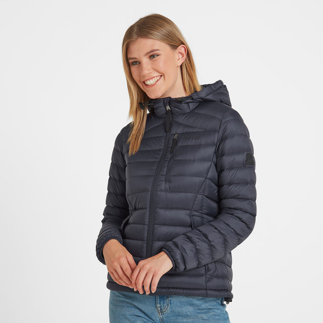 Drax Womens Hooded Down Jacket - Navy image 1