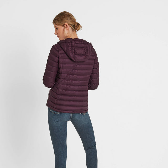 Drax Womens Hooded Down Jacket - Aubergine image 2