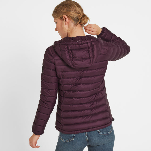 Drax Womens Hooded Down Jacket - Aubergine image 3
