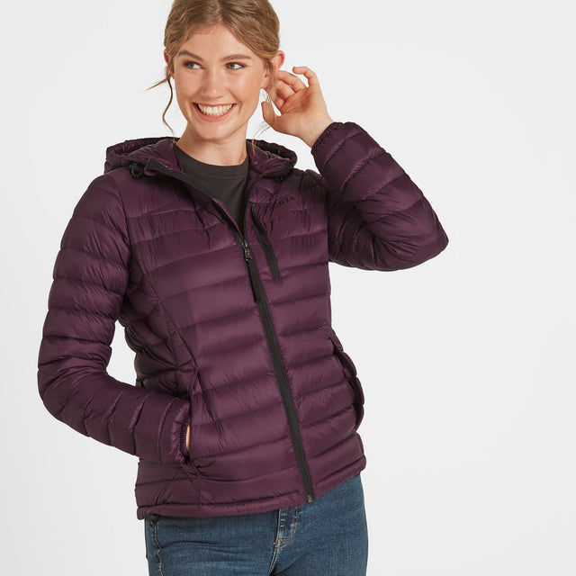 Drax Womens Hooded Down Jacket - Aubergine image 1