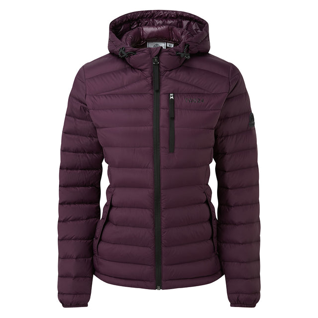Drax Womens Hooded Down Jacket - Aubergine image 5