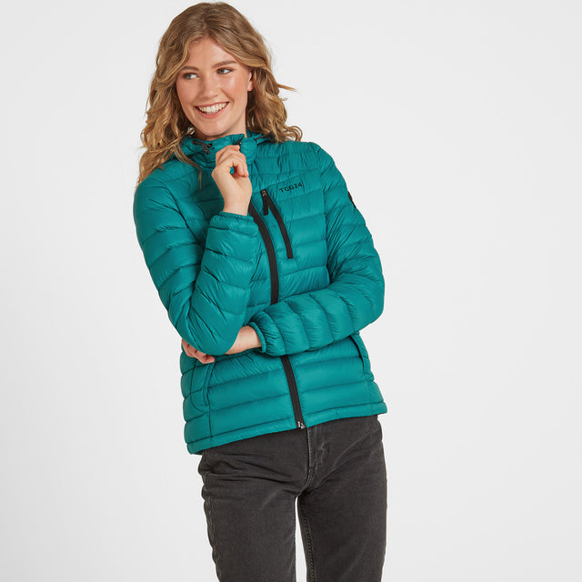 Drax Womens Hooded Down Jacket - Topaz image 1