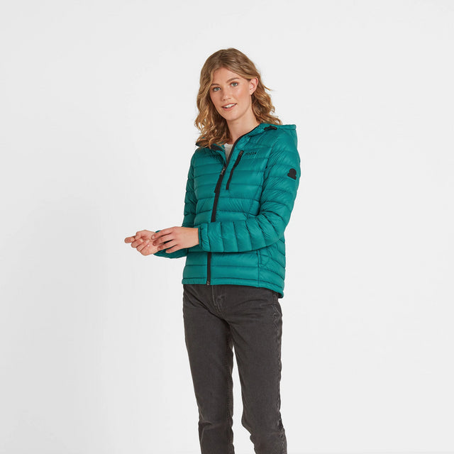 Drax Womens Hooded Down Jacket - Topaz image 2