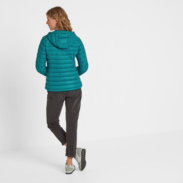 Drax Womens Hooded Down Jacket - Topaz image 3