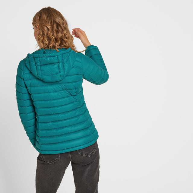 Drax Womens Hooded Down Jacket - Topaz image 5