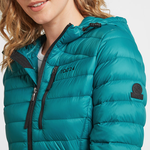 Drax Womens Hooded Down Jacket - Topaz image 6