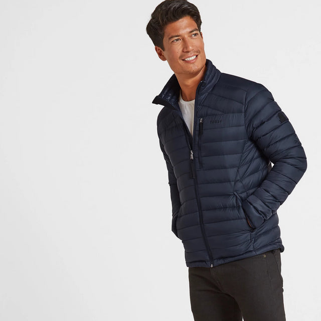 Drax Mens Funnel Down Jacket - Navy image 2