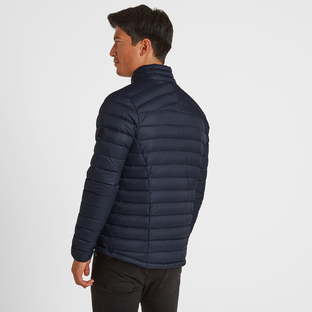 Drax Mens Funnel Down Jacket - Navy image 3