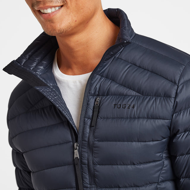 Drax Mens Funnel Down Jacket - Navy image 5